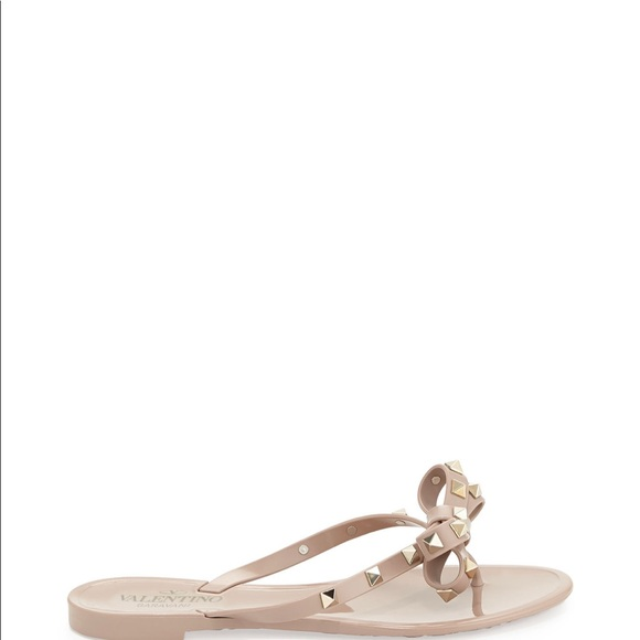 f557b8c2ec Valentino Garavani Shoes | Valentino Rockstud Pvc Jelly Thong ...